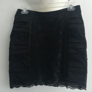 NWT - Nanette Lepore Lace Mini Skirt